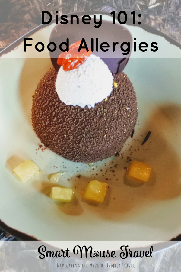 Traveling with food allergies can be stressful, but having a food allergy at Disney is easier than any other place we visit if you follow these tips. #disney #foodallergy #disneyvacation