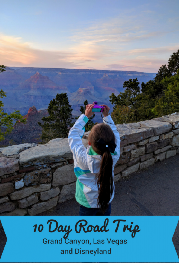 Looking for a road trip to Disneyland? See how this 10 day road trip from the Grand Canyon to Disneyland is the best trip we've ever taken with stops at Hoover Dam, Sedona, and Las Vegas, too! #disneylandroadtrip #disneyland #grandcanyonroadtrip #grandcanyon