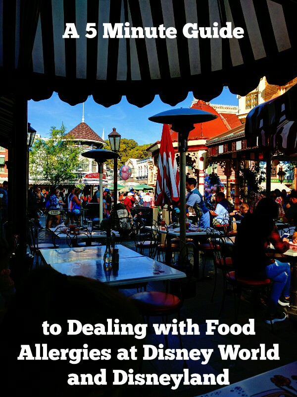 Food allergies at Disney? Traveling with food allergies can be a hassle, but Disney makes it easier than most. Here is my 5 Minute Guide to Dealing with Food Allergies at Disney World and Disneyland