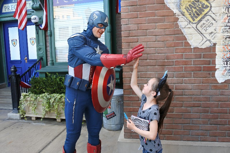 The Joy of the Pacific Ocean and Disneyland in the Same Day - Captain America