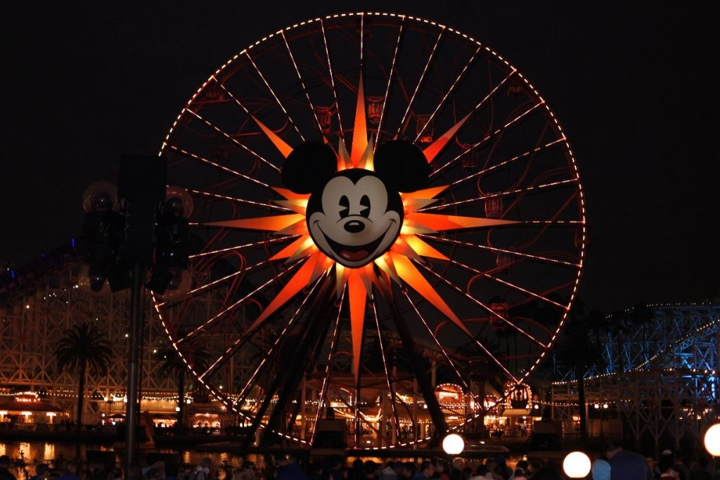 Mickey's Fun Wheel View While Waiting for World of Color