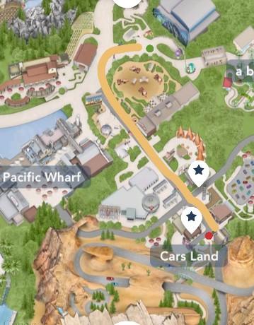Walk from Radiator Springs Racers to FP Kiosk