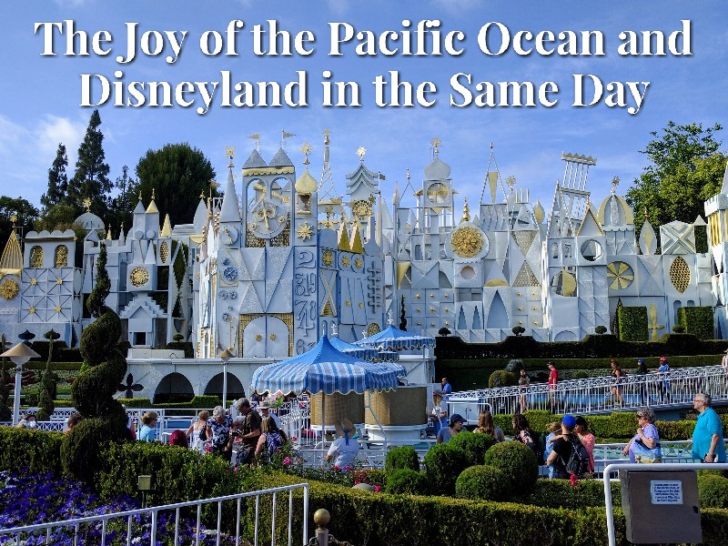 The Joy of the Pacific Ocean and Disneyland in the Same Day