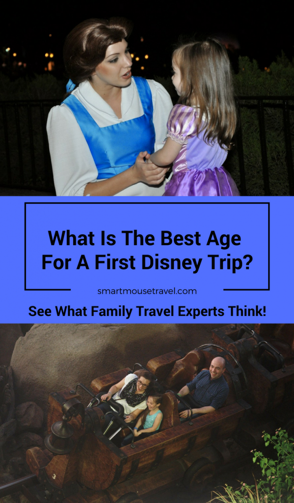 "People often debate the ""best"" age for a first Disney trip. See what several travel blogger families think is the ideal age for a first trip to Disney."