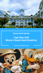 Looking for a relaxed character meal at Disney World? See why Cape May Cafe breakfast with Minnie and friends is a great way to start your morning! #disneyworld #capemaycafe #minniemouse