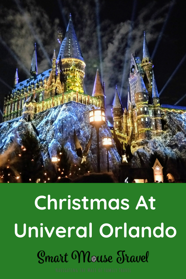 Universal Orlando has many fun Christmastime activities for the holidays. Learn more about what to expect when visiting Universal Orlando at Christmas. #universalorlando #universalchristmas #universalstudios #wizardingworldofharrypotter #christmas