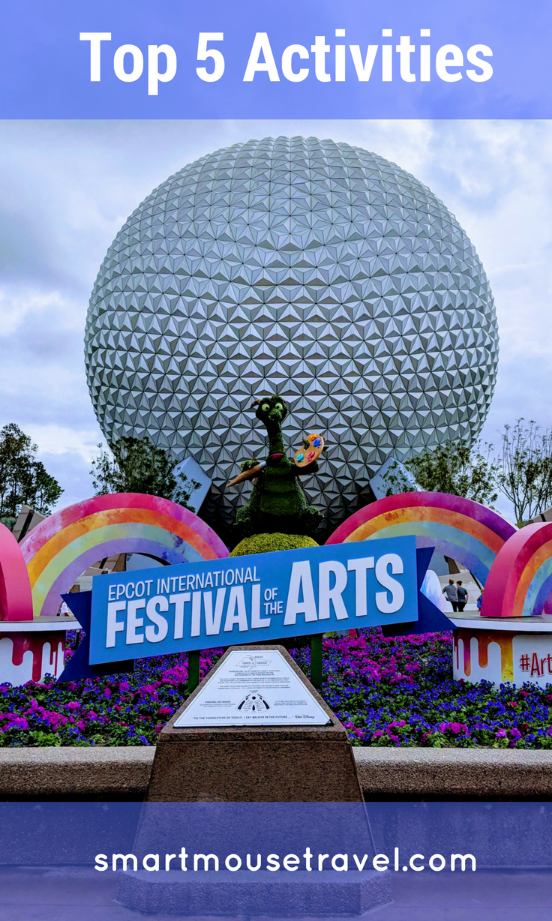 Epcot Festival of the Arts is an amazing celebration of many types of art. These are the 5 activities we can't wait to do again at Epcot Festival of the Arts. #epcot #disneyworld #festivalofthearts