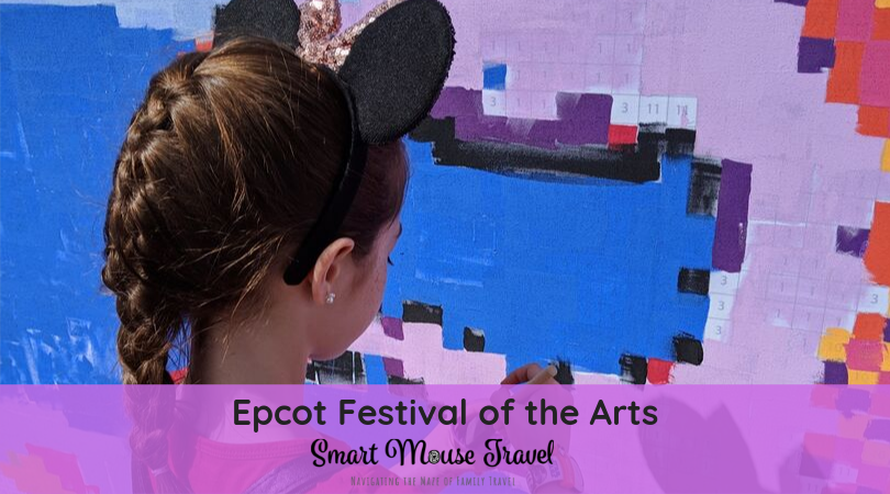 Epcot Festival of the Arts is an amazing celebration of all things artistic. These are our favorite Epcot Festival of the Arts activities each year. #epcot #epcotfestivalofthearts #artfulepcot #disneyworld #familytravel