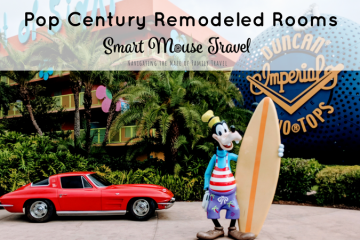 Pop Century is a popular Disney World Value Resort. Find out if the new Pop Century remodeled rooms are right for your Disney World vacation. #popcentury #disneyworld #popcenturyremodeledroom #disneyplanning