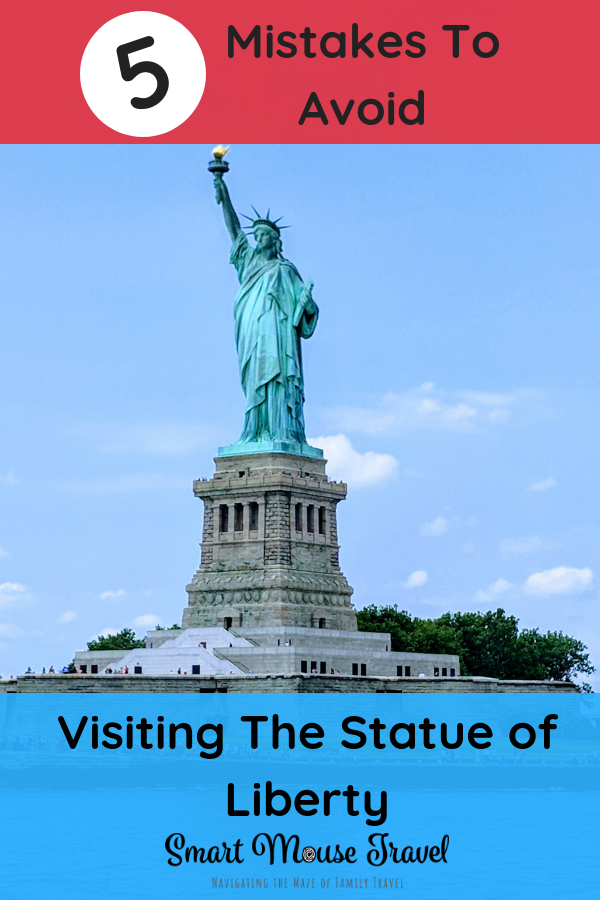 Visiting the Statue of Liberty is a must for many when in New York City. Avoid these BIG mistakes people make when visiting the Statue of Liberty. #statueofliberty #ellisisland #newyorkcity #nyc #visitnyc #ladyliberty