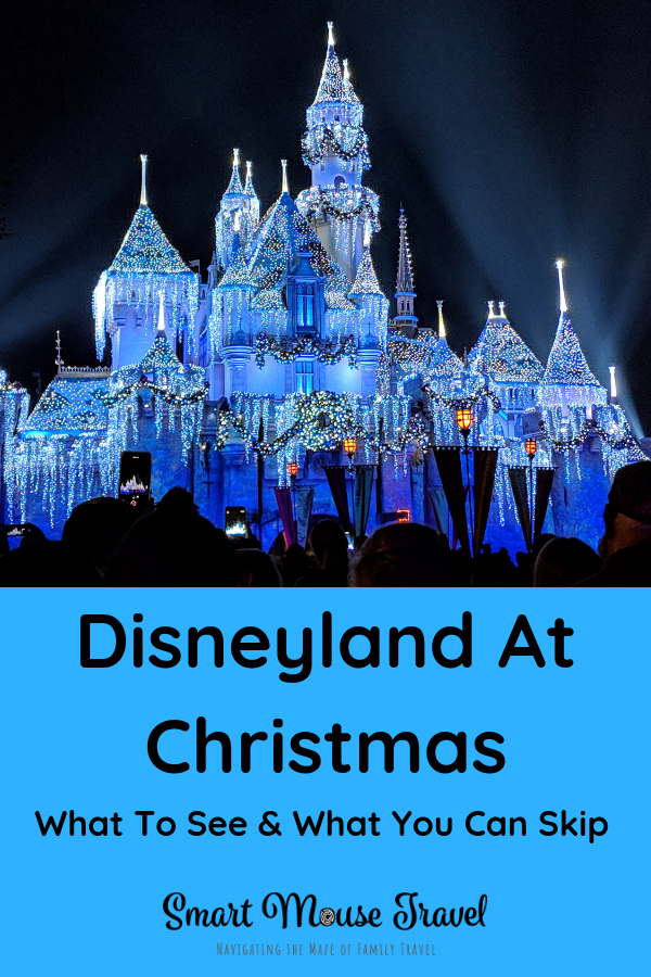 Is visiting Disneyland at Christmas on your wish list? If so, find out what you need to see and what you can skip during the holidays at Disneyland. #disneyland #hauntedmansionholiday #disneylandchristmas #itsasmallworld #disneyvacation