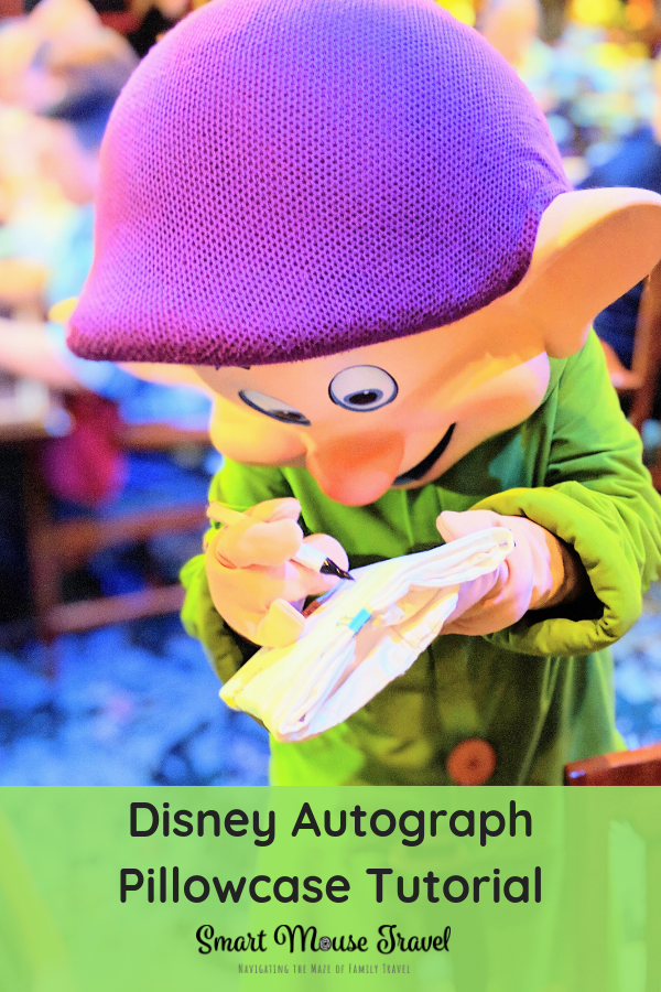 If you are looking for a Disney autograph book alternative, making a Disney autograph pillowcase is a fun, cheap, and easy souvenir. #disneyvacation #disneycraft #disneycharacters #familyvacation
