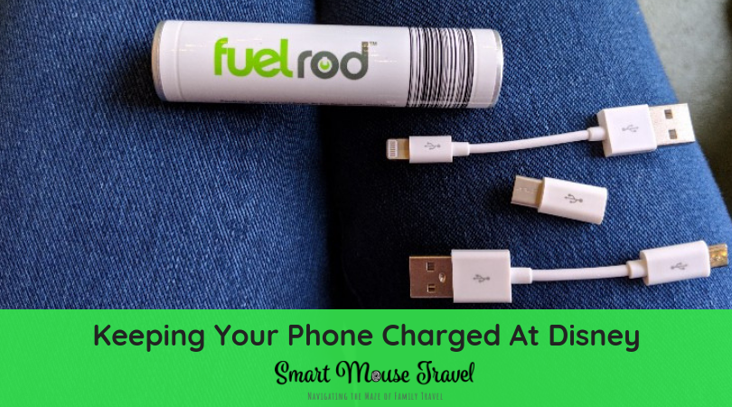 A dead phone battery at Disney can be a real problem. Find out how a Disney Fuel Rod kiosk can help you avoid this fate when at Disney World or Disneyland. #disneyworld #disneyland #familyvacation #fuelrod