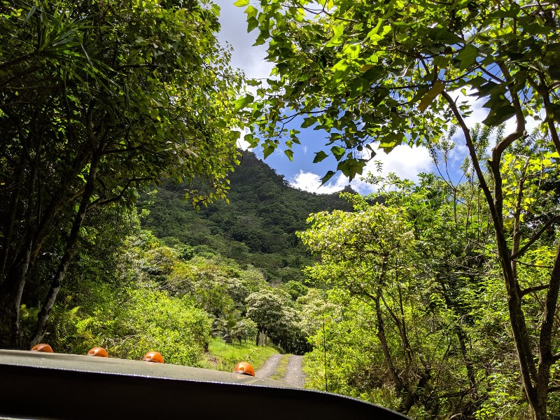 The Kualoa Ranch Jungle Jeep Expedition Tour is the perfect blend of exploring tropical landscapes and movie filming locations on Oahu. #hawaii #oahu #kualoaranch #jeeptour #familytravel