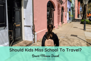 "A common question for families with school age kids is ""Should kids miss school to travel?"". Use these tips to choose how and when to travel with kids. #familytravel #travelwithkids #traveltips #vacation"