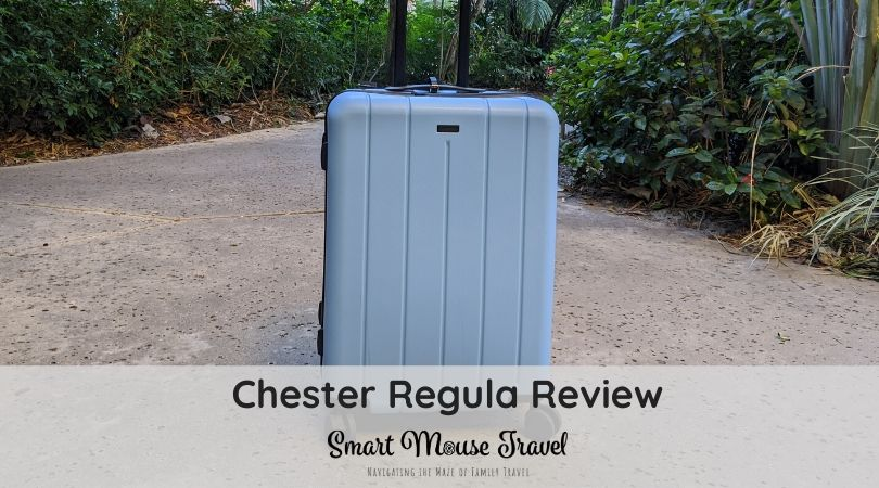 Chester Regula is a new medium-size checked bag offering from the brand that made our favorite carry-on. See if the Regula is now my checked bag of choice. #luggage #bestluggage #traveltips #familytravel #travelgear