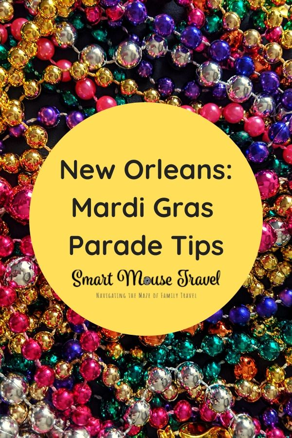 New Orleans family vacations can be even better during Mardi Gras. Our Mardi Gras parade tips will let the good times roll when watching parades with kids. #neworleans #nola #louisiana #familytravel #mardigras #mardigrasparades #traveltips