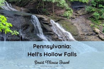 Don't let the name fool you. Hell's Hollow Falls at McConnells Mill State Park is a beautiful and easy family waterfall hike in Pennsylvania. #hiking #familytravel #eastcoast #waterfalls #pennsylvania