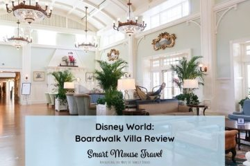 Disney's Boardwalk Villas 1 bedroom villa is a spacious and comfortable place to stay within walking distance to two Disney World parks. #disneyworld #disneyplanning #boardwalkvillas #disneyresorts