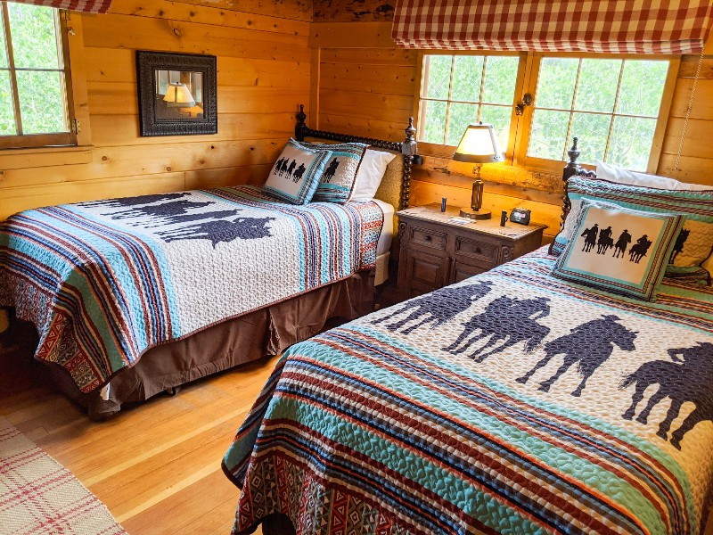 Cabin room with twin beds