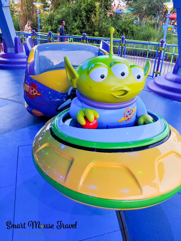 Alien Swirling Saucers Ride vehicle at Hollywood Studios.