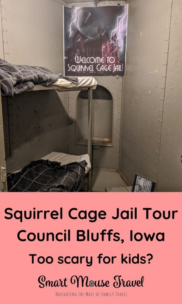 Squirrel Cage Jail in Council Bluffs, Iowa is a unique rotary jail with tons of history and some haunting tales perfect for a road trip stop.
