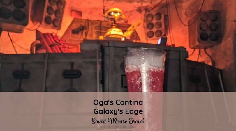 Oga's Cantina in Galaxy's Edge gives Star Wars fans a chance to sip a specialty cocktail or mocktail in the coolest bar at Disney World.