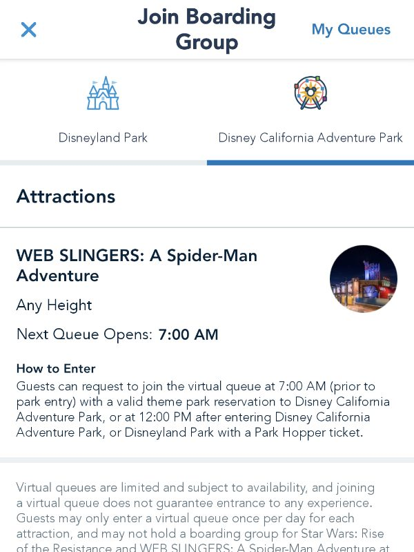 How to join boarding group in Disneyland app. Avengers Campus seamlessly integrates Marvel characters, cool styling, and unique Avengers Campus rides into your Disneyland vacation.