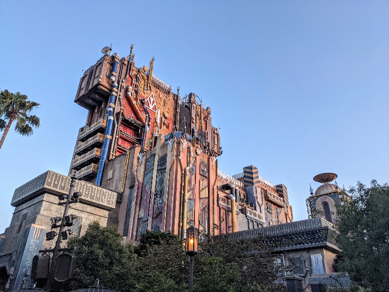 Guardians of the Galaxy - Mission: BREAKOUT outdoor photo of this popular Avengers Campus ride.